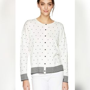 Jones NY women's crew neck button front cardigan